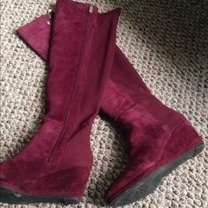 Vince Camuto Alexila Suede Leather Wedge Boots